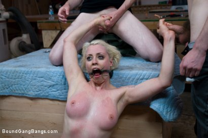 Photo number 12 from Public Gangbang 1 shot for Bound Gang Bangs on Kink.com. Featuring Lorelei Lee in hardcore BDSM & Fetish porn.