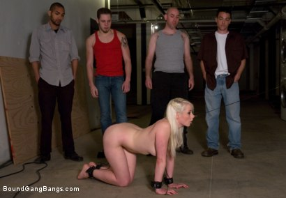 Photo number 2 from Public Gangbang 1 shot for Bound Gang Bangs on Kink.com. Featuring Lorelei Lee in hardcore BDSM & Fetish porn.