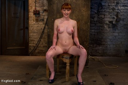 Photo number 15 from Sexy Irish girl is severely bound, made to suck cock and cum<br>Her puffy nipples clamped and abused shot for Hogtied on Kink.com. Featuring Marie McCray in hardcore BDSM & Fetish porn.