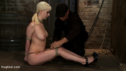 Photo number 4 from April's Live Show 1 of 4<br> Cherry suffers a Category 5 suspension!  All tying done live & on scree shot for Hogtied on Kink.com. Featuring Isis Love and Cherry Torn in hardcore BDSM & Fetish porn.