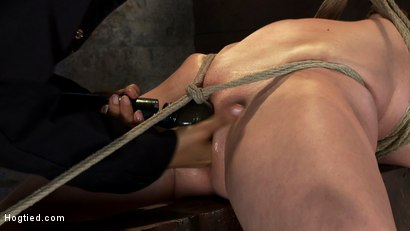 Photo number 11 from Extremely bent backwards, her neck tied so she can't move, her face brutally fucked while cumming! shot for Hogtied on Kink.com. Featuring Isis Love and Cherry Torn in hardcore BDSM & Fetish porn.