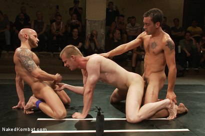 Photo number 11 from Drake Jaden & Blake Daniels vs DJ & Gianni Luca <br> Live Audience Tag Team Match shot for Naked Kombat on Kink.com. Featuring Drake Jaden, DJ, Gianni Luca and Blake Daniels in hardcore BDSM & Fetish porn.