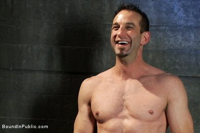 Photo number 15 from Muscular sub is treated like garbage at a dungeon party shot for Bound in Public on Kink.com. Featuring Parker London and Jason Miller in hardcore BDSM & Fetish porn.