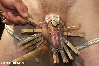 Photo number 6 from Muscular sub is treated like garbage at a dungeon party shot for Bound in Public on Kink.com. Featuring Parker London and Jason Miller in hardcore BDSM & Fetish porn.