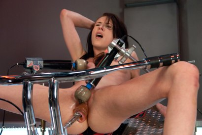 Photo number 2 from Certified Bad Ass <br> Machine Fucking a Stunt Woman shot for Fucking Machines on Kink.com. Featuring Aiden Ashley in hardcore BDSM & Fetish porn.