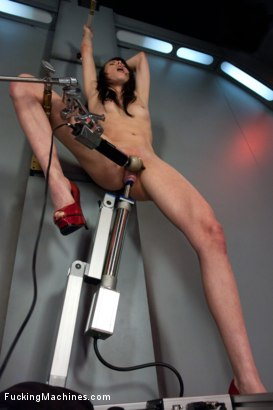 Photo number 6 from Certified Bad Ass <br> Machine Fucking a Stunt Woman shot for Fucking Machines on Kink.com. Featuring Aiden Ashley in hardcore BDSM & Fetish porn.