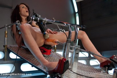 Photo number 3 from Certified Bad Ass <br> Machine Fucking a Stunt Woman shot for Fucking Machines on Kink.com. Featuring Aiden Ashley in hardcore BDSM & Fetish porn.