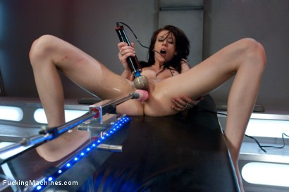 Photo number 14 from Hell Fire Riding a Fucking Machine: The Girl Fucks Like a MadMan shot for Fucking Machines on Kink.com. Featuring Aiden Ashley in hardcore BDSM & Fetish porn.