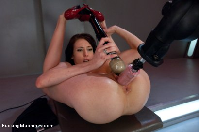 Photo number 12 from Hell Fire Riding a Fucking Machine: The Girl Fucks Like a MadMan shot for Fucking Machines on Kink.com. Featuring Aiden Ashley in hardcore BDSM & Fetish porn.