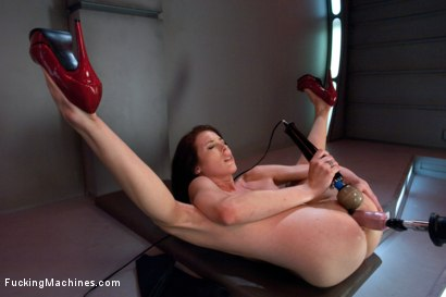 Photo number 13 from Hell Fire Riding a Fucking Machine: The Girl Fucks Like a MadMan shot for Fucking Machines on Kink.com. Featuring Aiden Ashley in hardcore BDSM & Fetish porn.