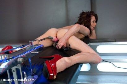 Photo number 8 from Hell Fire Riding a Fucking Machine: The Girl Fucks Like a MadMan shot for Fucking Machines on Kink.com. Featuring Aiden Ashley in hardcore BDSM & Fetish porn.
