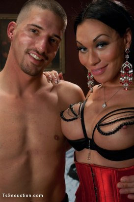 Photo number 15 from TS Mia Isabella's Desires: Boys, Girls, Bondage, Total Domination and  shot for TS Seduction on Kink.com. Featuring Mia Isabella, Ty Roderick and Lorelei Lee in hardcore BDSM & Fetish porn.