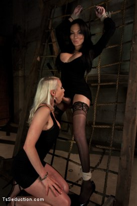 Photo number 5 from TS Mia Isabella's Desires: Boys, Girls, Bondage, Total Domination and  shot for TS Seduction on Kink.com. Featuring Mia Isabella, Ty Roderick and Lorelei Lee in hardcore BDSM & Fetish porn.