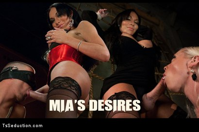 Photo number 1 from TS Mia Isabella's Desires: Boys, Girls, Bondage, Total Domination and  shot for TS Seduction on Kink.com. Featuring Mia Isabella, Ty Roderick and Lorelei Lee in hardcore BDSM & Fetish porn.