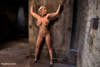 Photo number 1 from Smoking hot blond MILF with HUGE tits<br>Suffers brutal crotch rope, pulled to the breaking point. shot for Hogtied on Kink.com. Featuring Holly Halston in hardcore BDSM & Fetish porn.