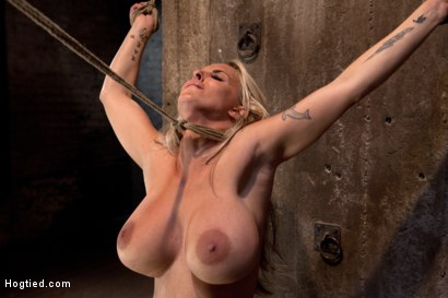 Photo number 9 from Smoking hot blond MILF with HUGE tits<br>Suffers brutal crotch rope, pulled to the breaking point. shot for Hogtied on Kink.com. Featuring Holly Halston in hardcore BDSM & Fetish porn.