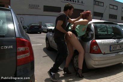 Photo number 5 from European Cutie Made to Jack off a Stranger and Walk Through the Streets With his cum on her Face shot for Public Disgrace on Kink.com. Featuring James Deen and Yakima Squaw in hardcore BDSM & Fetish porn.