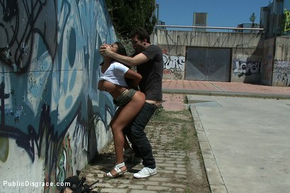 Photo number 5 from Big Tits, Round Ass, Disgraced in Public shot for Public Disgrace on Kink.com. Featuring James Deen and Yoha in hardcore BDSM & Fetish porn.