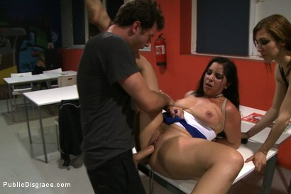 Photo number 14 from Public Ass Fucking shot for Public Disgrace on Kink.com. Featuring James Deen, Salma de Nora and Princess Donna Dolore in hardcore BDSM & Fetish porn.