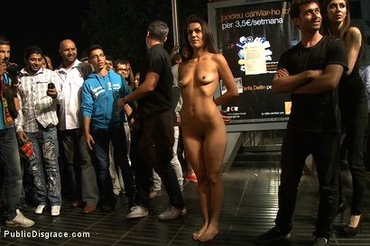 Photo number 14 from Spanish Hottie Naked and Fucked in Public shot for Public Disgrace on Kink.com. Featuring James Deen and Samia Duarte in hardcore BDSM & Fetish porn.