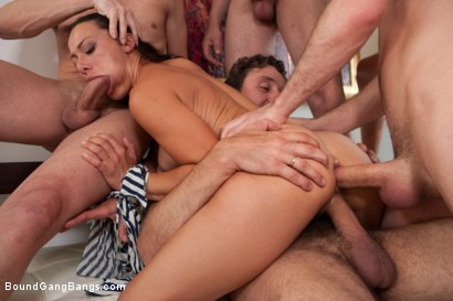 Photo number 14 from Legendary Dom Sandra Romain Returns as a Submissive GangBang Slut shot for Bound Gang Bangs on Kink.com. Featuring Sandra Romain, Steve Holmes and James Deen in hardcore BDSM & Fetish porn.