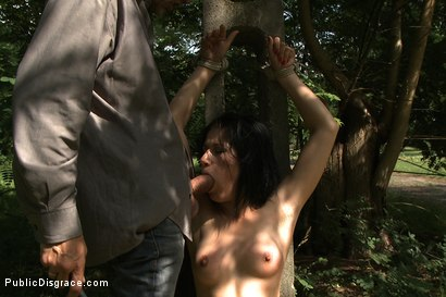 Photo number 4 from Cum Walk shot for publicdisgrace on Kink.com. Featuring Steve Holmes and Lucy Bell in hardcore BDSM & Fetish porn.