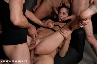Photo number 11 from The Photoshoot shot for Bound Gang Bangs on Kink.com. Featuring James Deen, Zenza Raggi, Steve Holmes, Renato, Aliz and Antonio Ross in hardcore BDSM & Fetish porn.