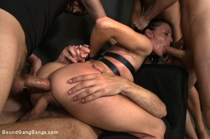 Photo number 13 from The Photoshoot shot for Bound Gang Bangs on Kink.com. Featuring James Deen, Zenza Raggi, Steve Holmes, Renato, Aliz and Antonio Ross in hardcore BDSM & Fetish porn.