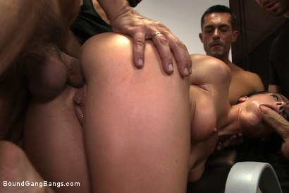 Photo number 5 from The Photoshoot shot for Bound Gang Bangs on Kink.com. Featuring James Deen, Zenza Raggi, Steve Holmes, Renato, Aliz and Antonio Ross in hardcore BDSM & Fetish porn.