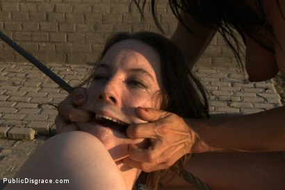 Photo number 14 from Sandra Romain is Back in Action Dominating an Unsuspecting British Sub!!!! shot for Public Disgrace on Kink.com. Featuring Crystal Sparx, James Deen and Sandra Romain in hardcore BDSM & Fetish porn.