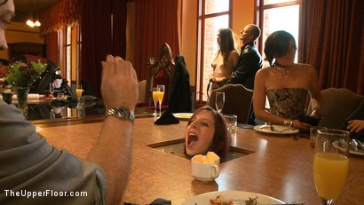Photo number 6 from Stefanos' Community Brunch shot for The Upper Floor on Kink.com. Featuring Maestro Stefanos, Skin Diamond, Nerine Mechanique and Lilla Katt in hardcore BDSM & Fetish porn.