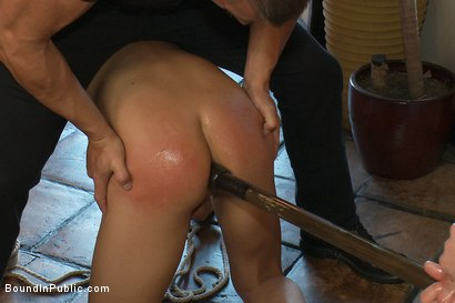 Photo number 3 from Restaurant patrons abuse a bad waiter and make him serve naked in public. shot for Bound in Public on Kink.com. Featuring Nico and Tyler Saint in hardcore BDSM & Fetish porn.