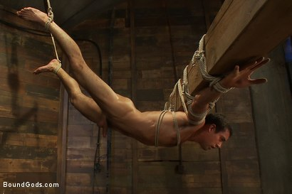 Photo number 11 from Logan Scott gets tied up and worked over for the first time. shot for Bound Gods on Kink.com. Featuring Logan Scott and DJ in hardcore BDSM & Fetish porn.