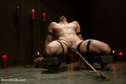 Photo number 1 from Jason Miller - Ripped and Ready for Hard Punishment shot for Bound Gods on Kink.com. Featuring Master Avery and Jason Miller in hardcore BDSM & Fetish porn.