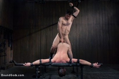 Photo number 13 from Jason Miller - Ripped and Ready for Hard Punishment shot for Bound Gods on Kink.com. Featuring Master Avery and Jason Miller in hardcore BDSM & Fetish porn.