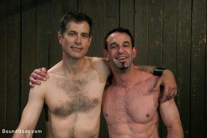 Photo number 15 from Jason Miller - Ripped and Ready for Hard Punishment shot for Bound Gods on Kink.com. Featuring Master Avery and Jason Miller in hardcore BDSM & Fetish porn.