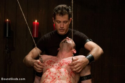 Photo number 12 from Jason Miller - Ripped and Ready for Hard Punishment shot for Bound Gods on Kink.com. Featuring Master Avery and Jason Miller in hardcore BDSM & Fetish porn.