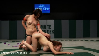 Photo number 15 from SUMMER VENGEANCE TOURNAMENT: Rank 16 vs 15<br>Only non-scripted sex wrestling tourney in the world! shot for Ultimate Surrender on Kink.com. Featuring Iona Grace and Juliette March in hardcore BDSM & Fetish porn.