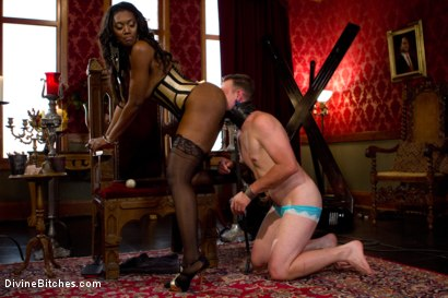 Photo number 8 from The Price Of Being Inadequate: Episode 1 shot for Divine Bitches on Kink.com. Featuring Skyeboy and Nyomi Banxxx in hardcore BDSM & Fetish porn.