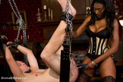 Photo number 6 from The Price Of Being Inadequate: Episode 1 shot for Divine Bitches on Kink.com. Featuring Skyeboy and Nyomi Banxxx in hardcore BDSM & Fetish porn.