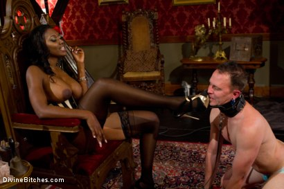 Photo number 7 from The Price Of Being Inadequate: Episode 1 shot for Divine Bitches on Kink.com. Featuring Skyeboy and Nyomi Banxxx in hardcore BDSM & Fetish porn.