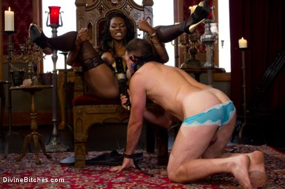Photo number 15 from The Price Of Being Inadequate: Episode 1 shot for Divine Bitches on Kink.com. Featuring Skyeboy and Nyomi Banxxx in hardcore BDSM & Fetish porn.