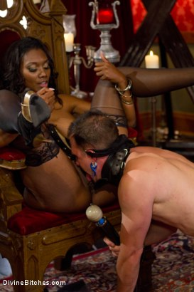 Photo number 12 from The Price Of Being Inadequate: Episode 1 shot for Divine Bitches on Kink.com. Featuring Skyeboy and Nyomi Banxxx in hardcore BDSM & Fetish porn.