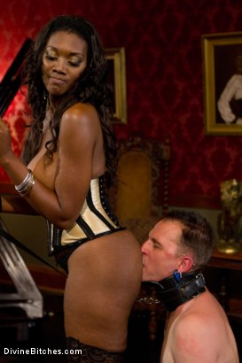 Photo number 11 from The Price Of Being Inadequate: Episode 1 shot for Divine Bitches on Kink.com. Featuring Skyeboy and Nyomi Banxxx in hardcore BDSM & Fetish porn.