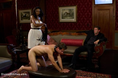 Photo number 3 from Rich Cuck Doesn't = Well-Endowed Cuck shot for Divine Bitches on Kink.com. Featuring Shaun Diesel , Nyomi Banxxx and Roue in hardcore BDSM & Fetish porn.