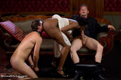 Photo number 4 from Rich Cuck Doesn't = Well-Endowed Cuck shot for Divine Bitches on Kink.com. Featuring Shaun Diesel , Nyomi Banxxx and Roue in hardcore BDSM & Fetish porn.
