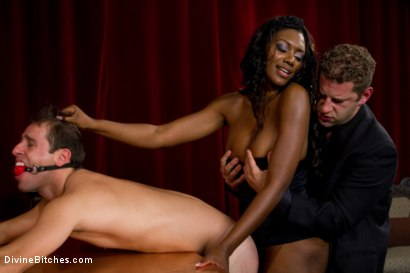 Photo number 5 from Rich Cuck Doesn't = Well-Endowed Cuck shot for Divine Bitches on Kink.com. Featuring Shaun Diesel , Nyomi Banxxx and Roue in hardcore BDSM & Fetish porn.