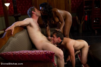 Photo number 6 from Rich Cuck Doesn't = Well-Endowed Cuck shot for Divine Bitches on Kink.com. Featuring Shaun Diesel , Nyomi Banxxx and Roue in hardcore BDSM & Fetish porn.