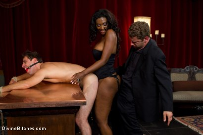 Photo number 12 from Rich Cuck Doesn't = Well-Endowed Cuck shot for Divine Bitches on Kink.com. Featuring Shaun Diesel , Nyomi Banxxx and Roue in hardcore BDSM & Fetish porn.