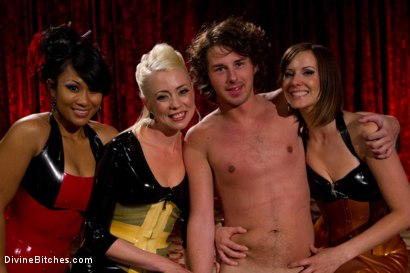 Photo number 9 from Visual Sensation: CFNM FemDom Theatre shot for Divine Bitches on Kink.com. Featuring Lorelei Lee, DragonLily, Maitresse Madeline Marlowe  and Barney in hardcore BDSM & Fetish porn.